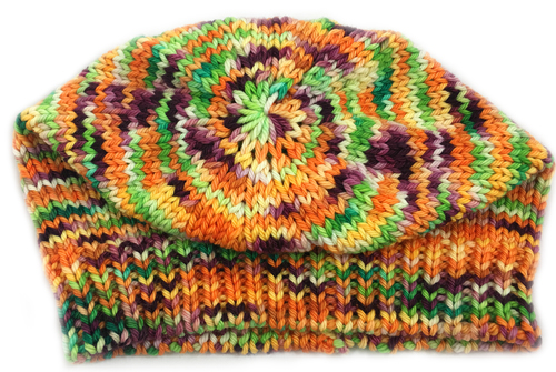 Machine Knit Worsted - crown closeup